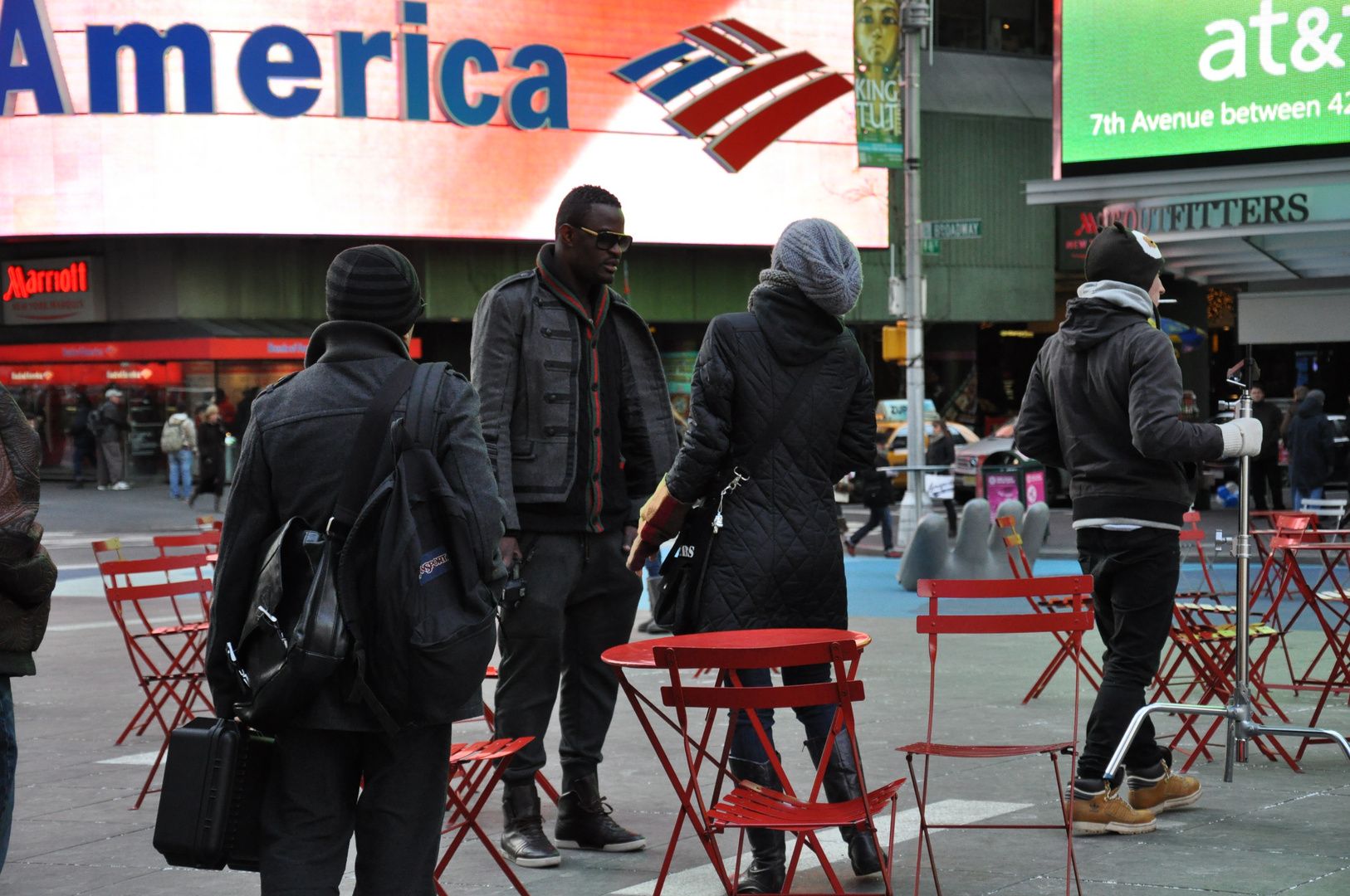 Momente am Times Square