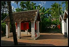 ... Monastery Backyard in Luang Prabang ...