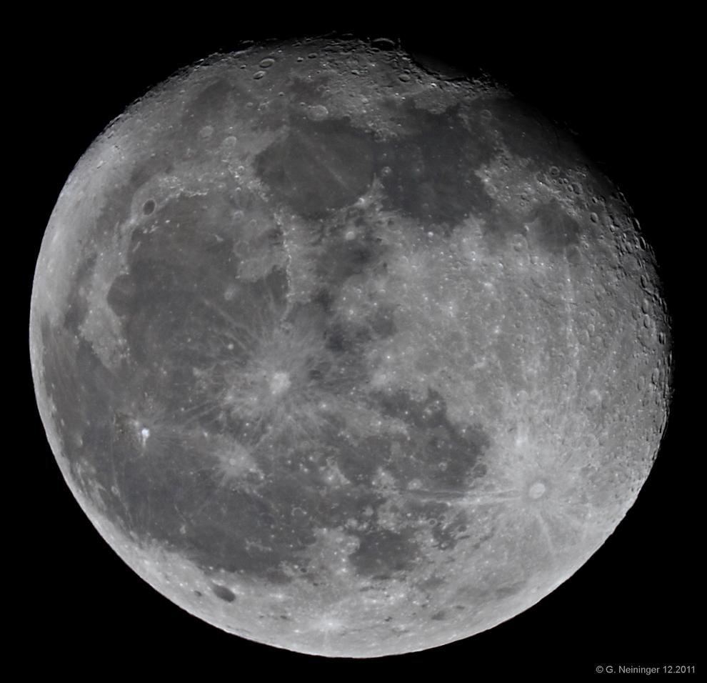 Mond am 12.12.2011