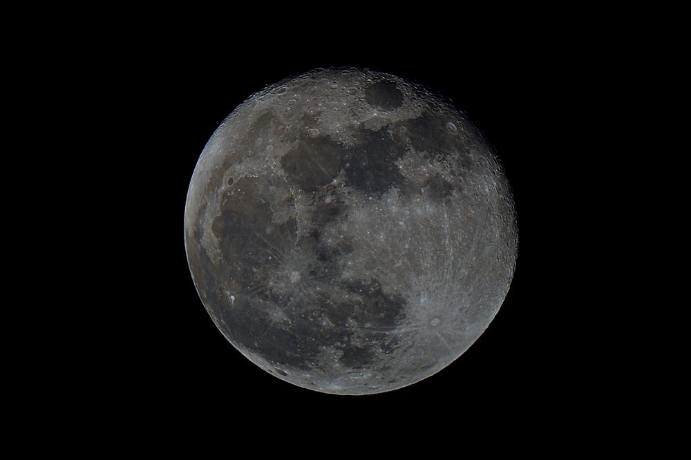 Mond am 9 Oktober 2014