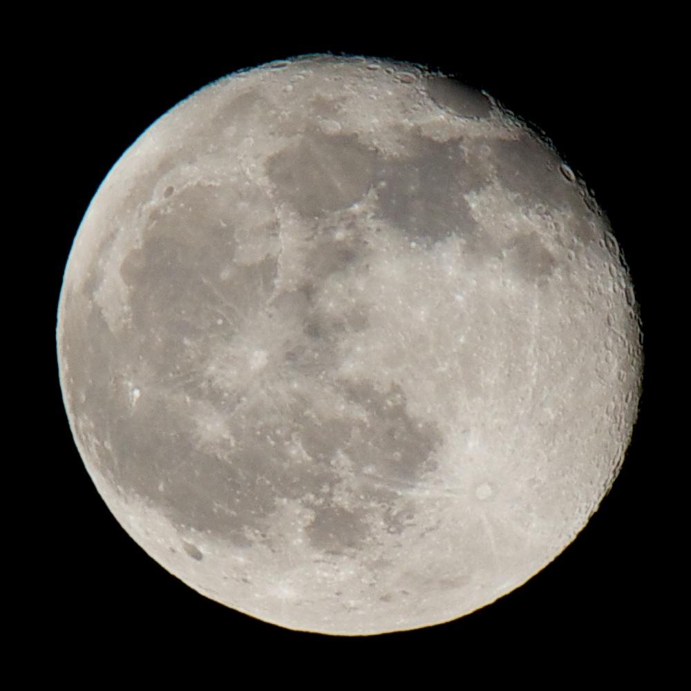Mond mit Kraterschatten, 600mm