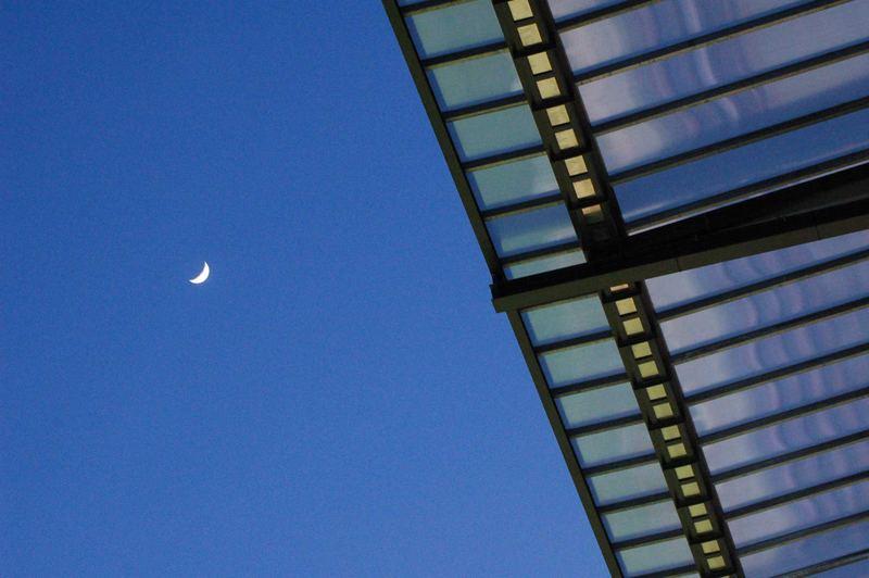 Mond über dem Rhein Energie Stadion Köln