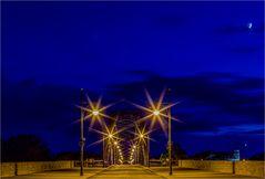 Mond und Sterne über und im Rotehornpark Magdeburg