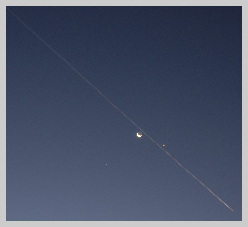 Mond und Venus am 7.10.07