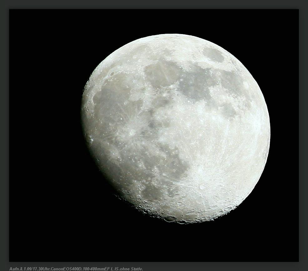 Mond vom 8.1.09