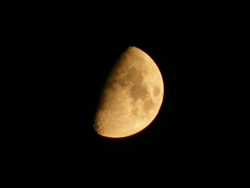 Mond zunehmender Halbmond