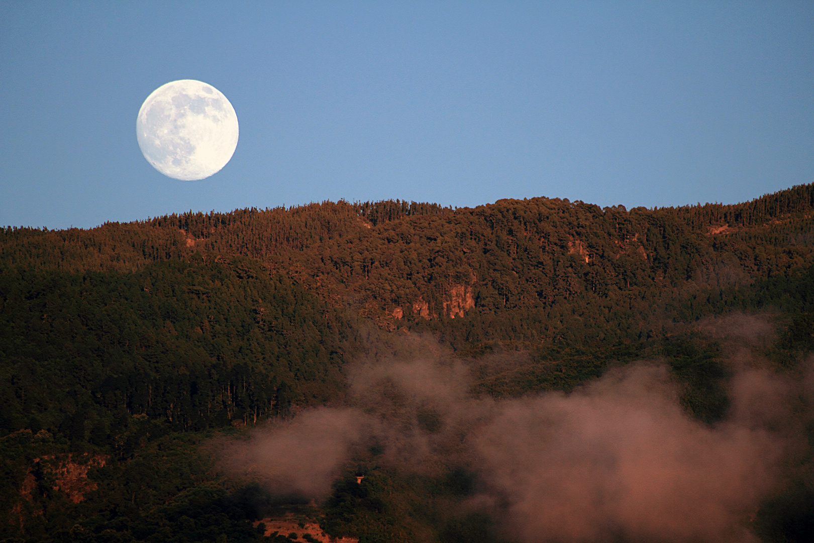 Mondaufgang hinterm Anaga Gebirge