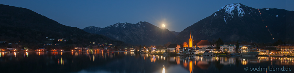 Mondaufgang im Malerwinkel, Rottach-Egern, Tegernsee