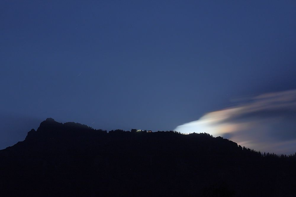Mondaufgang über dem Tegelberg