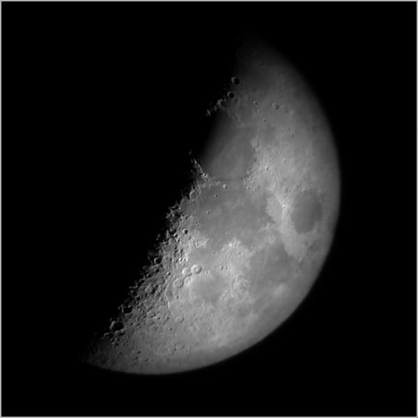 Mondbild mit einfachen Mitteln - 1. Versuch