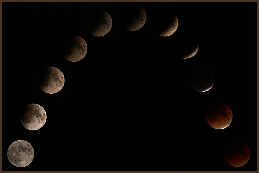 Mondfinsternis 2008 - Die kleine helle Scheibe am Himmel ...