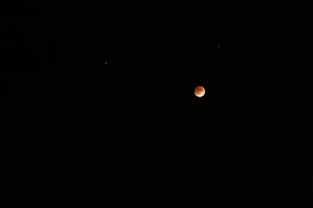Mondfinsternis im Sternbild Löwe am 21.02.08 in Schwülper