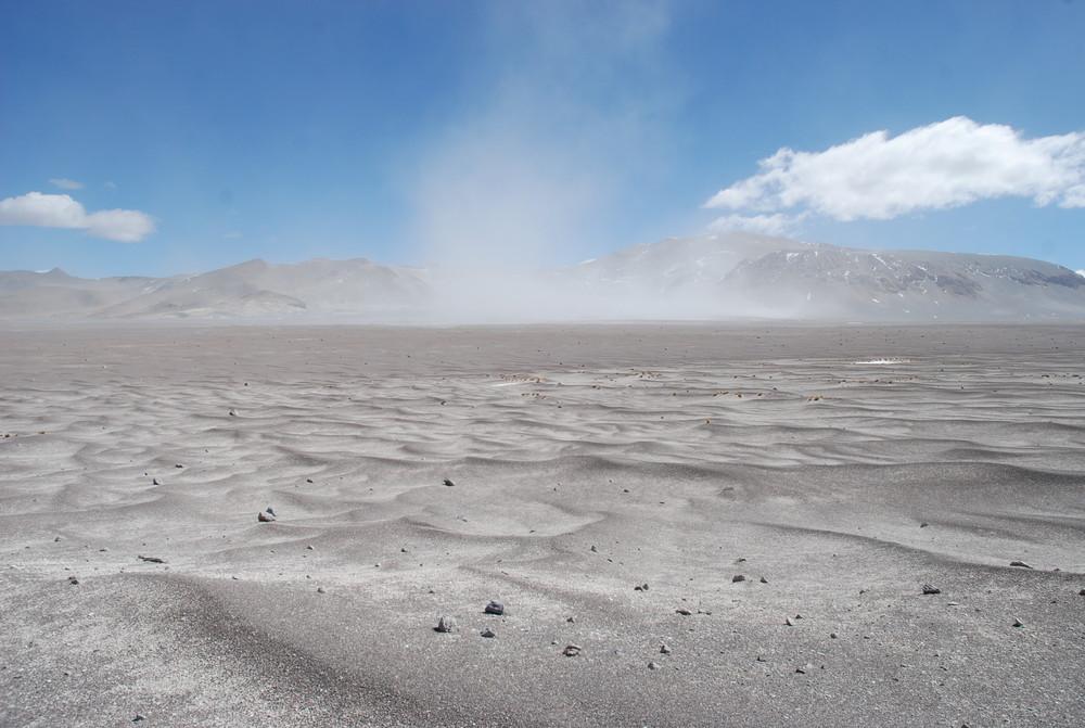 Mondlandschaft in Catamarca Argentinien