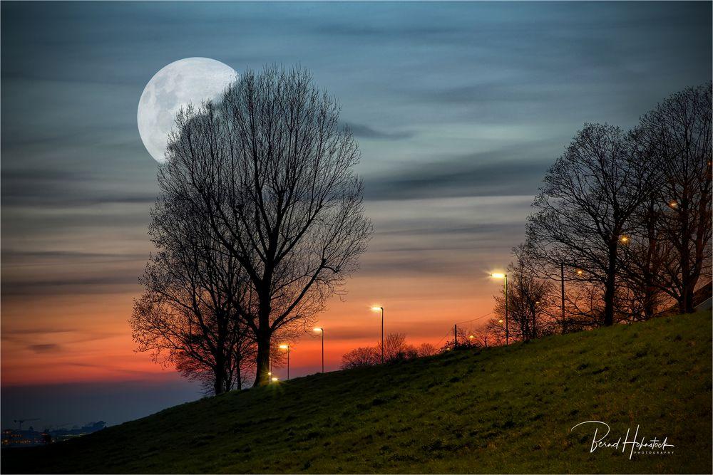 Mondnacht .... in der Landeshauptstadt von NRW