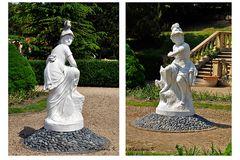 Mondo Verde - Figuren im Palacio dos Marquises da Fronteira