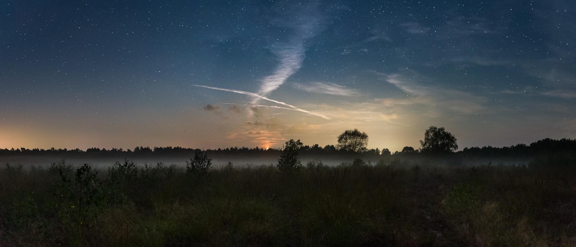 Mondschein Heide