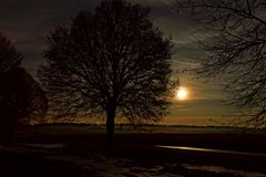 Mondschein mit Sternenhimmel Januar 2016