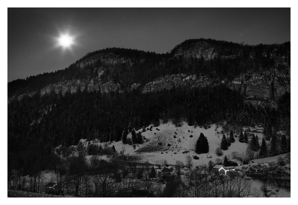 Mondschein Winterlandschaft