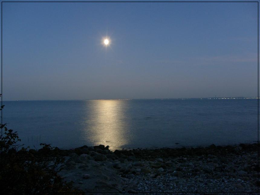 Mondschein zwischen Laboe und Bülk
