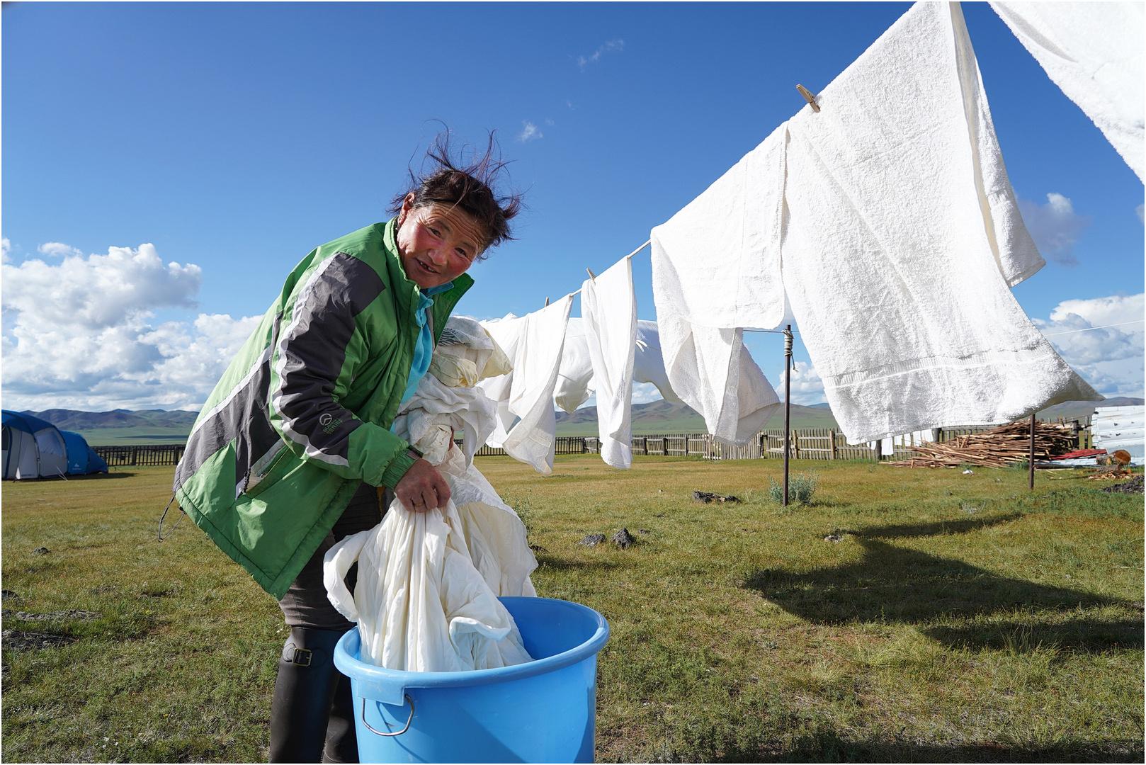 Mongolische Wäscheleine  -  für Andi