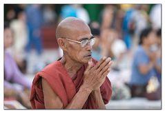 Monk at Shwedagon Pagoda