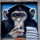 Mono fuma joint