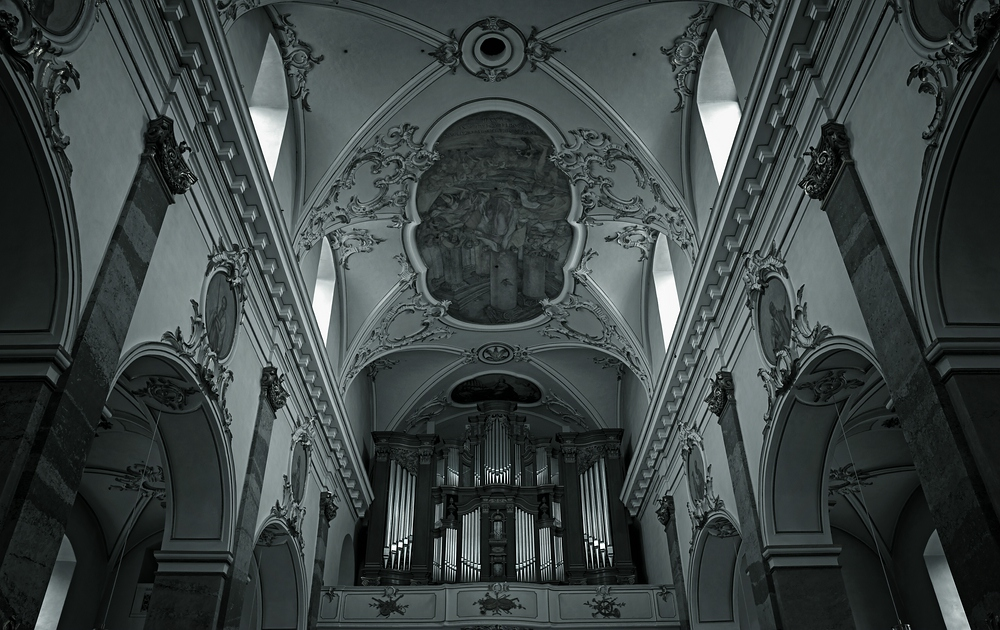 Monochrome Orgel