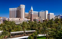 Monorail gegen The Venetian, Las Vegas, USA