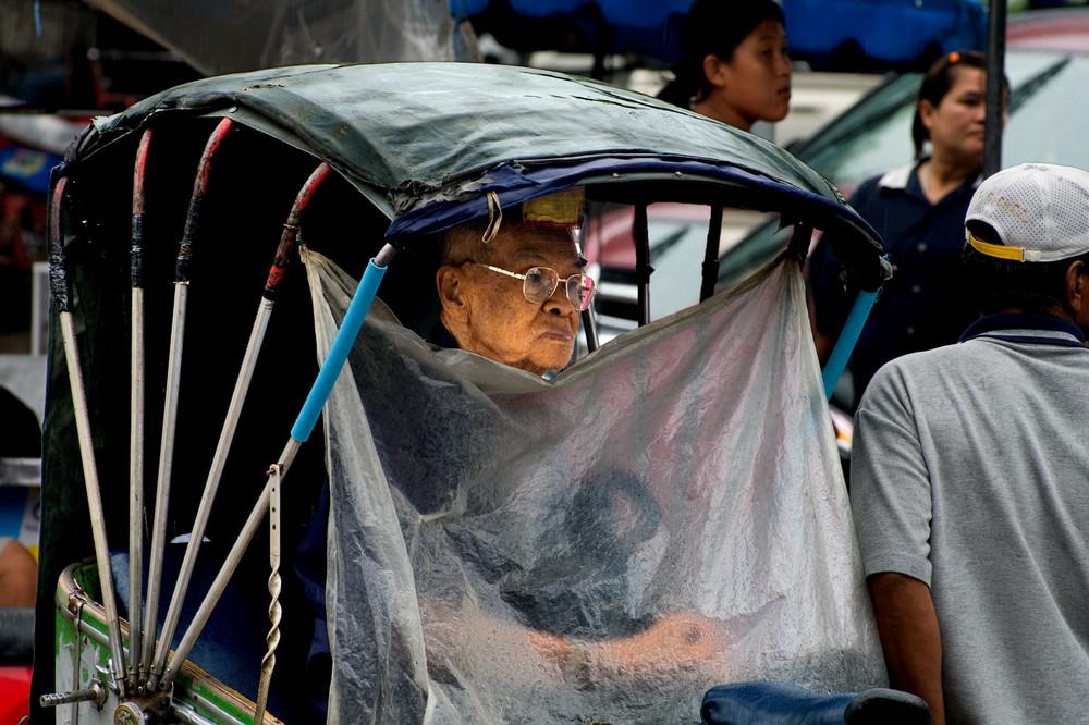 Monsunregen in Phitsanulok - Thailand