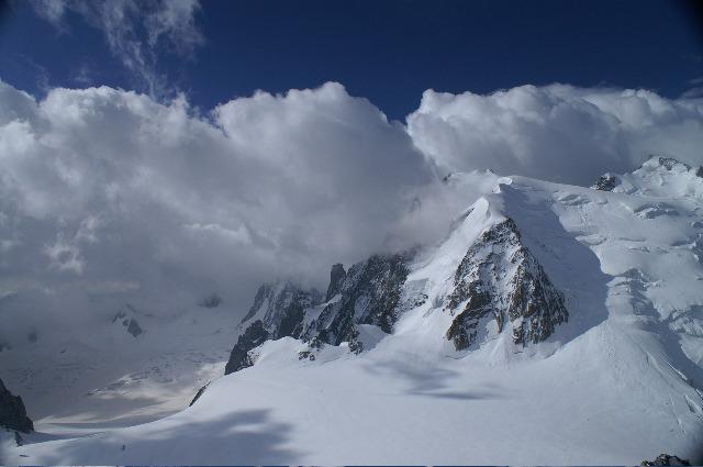 Mont Blanc du Tacul avant l'orage
