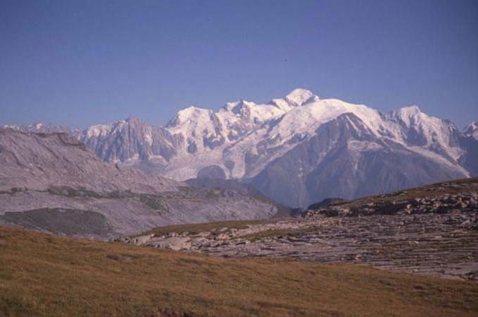 Mont Blanc vu lors d'une balade