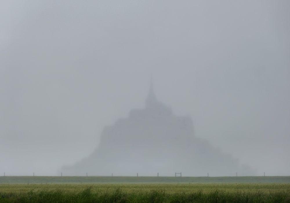 Mont Saint Michel in fog