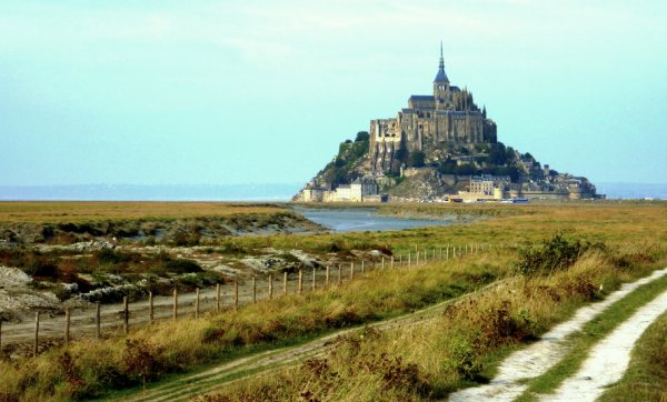 Mont-Saint-Michel in Normandie, France..