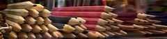 Montañas de lápices