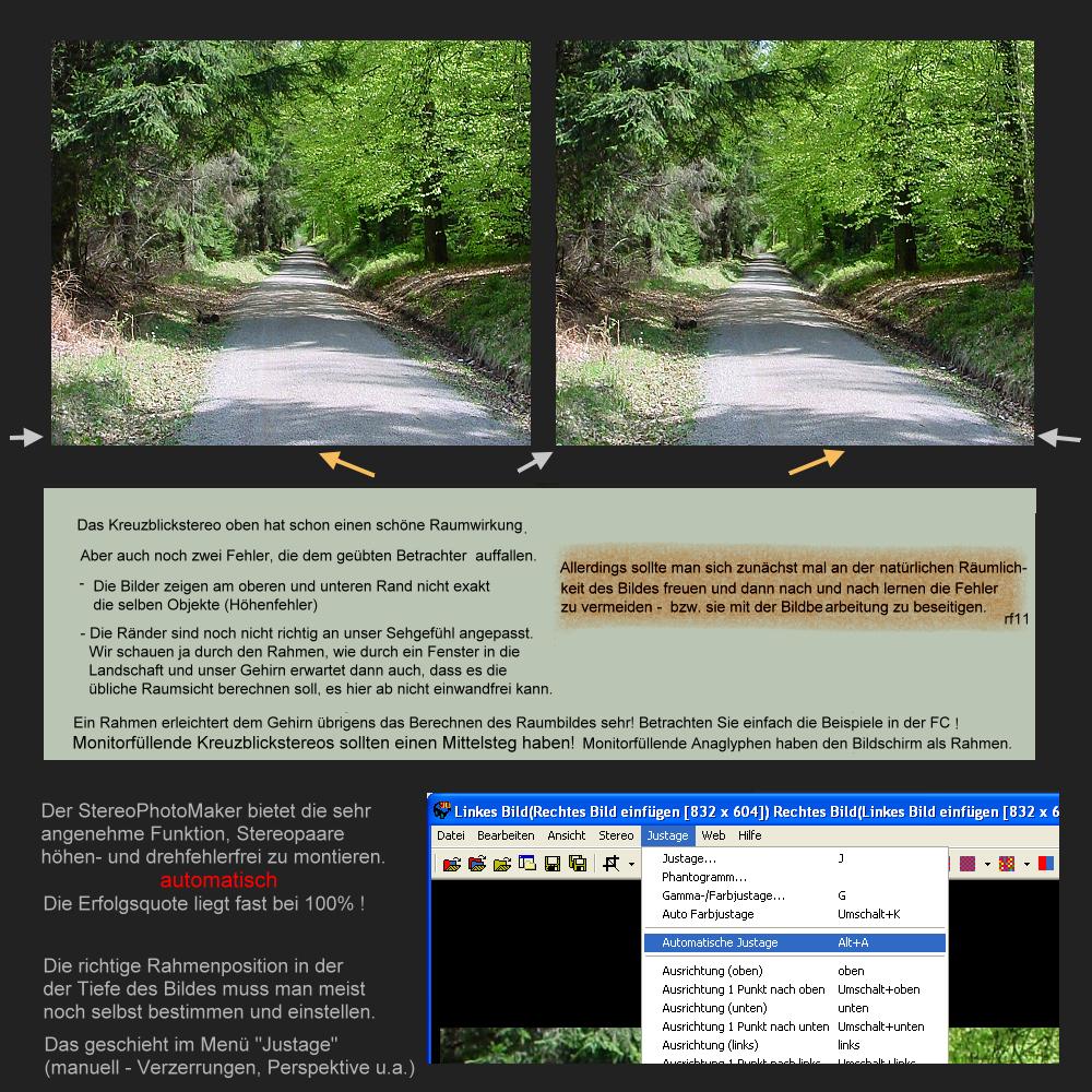 Montage des Stereopaares - Automatische Ausrichtung Foto & Bild ...
