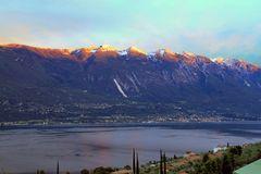 Monte Baldo bei Sonnenuntergang