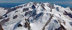 Monte Rosa-Gruppe -Ansicht aus SW