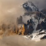 Monte Seguret tra la nebbia