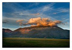 Monte Vettore im Abendlicht