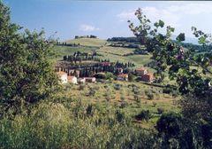 Monticchiello, westlich von Montepulciano