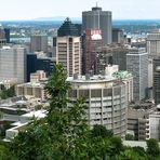 Montréal - seen from Mount Royal