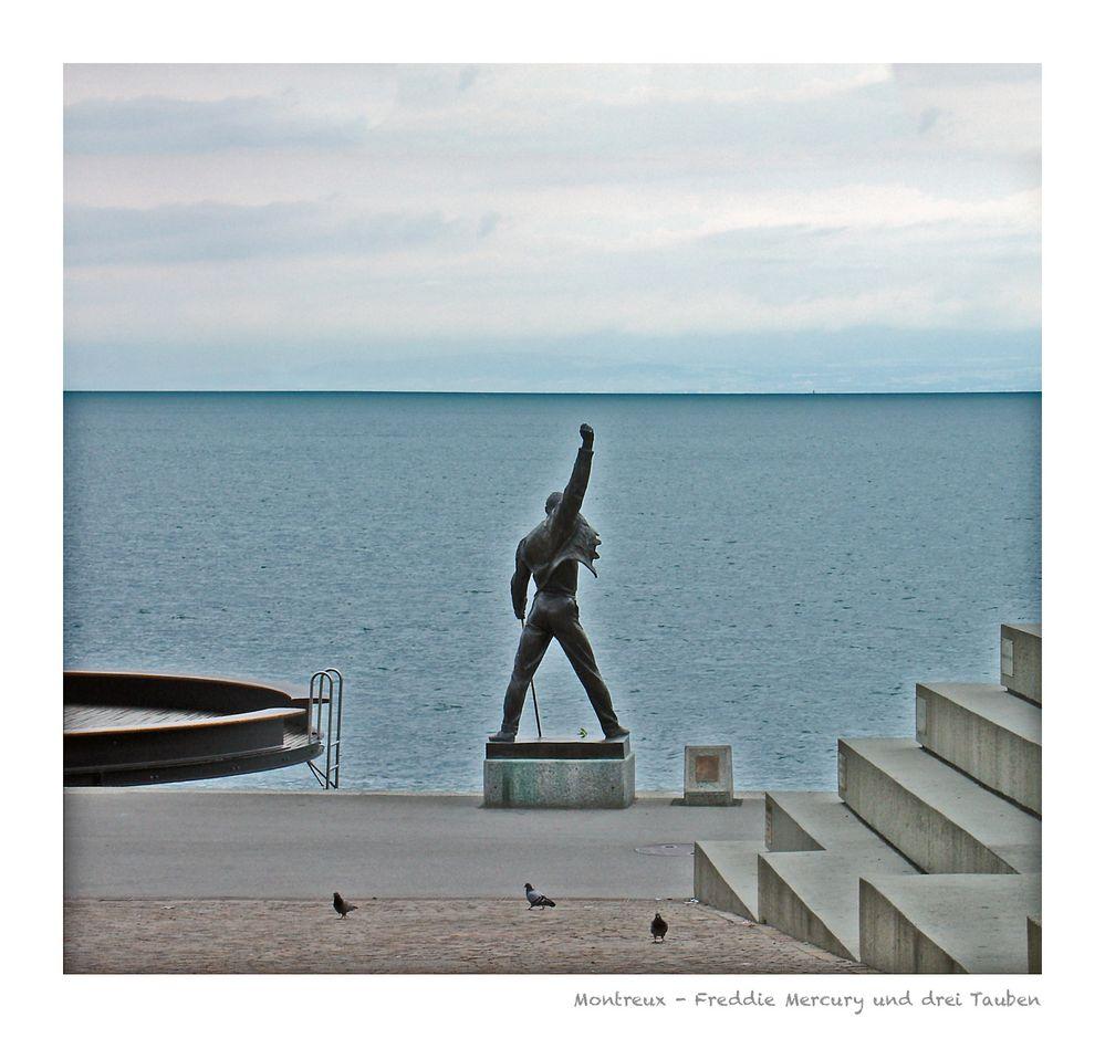 Montreux - Freddie Mercury und drei Tauben