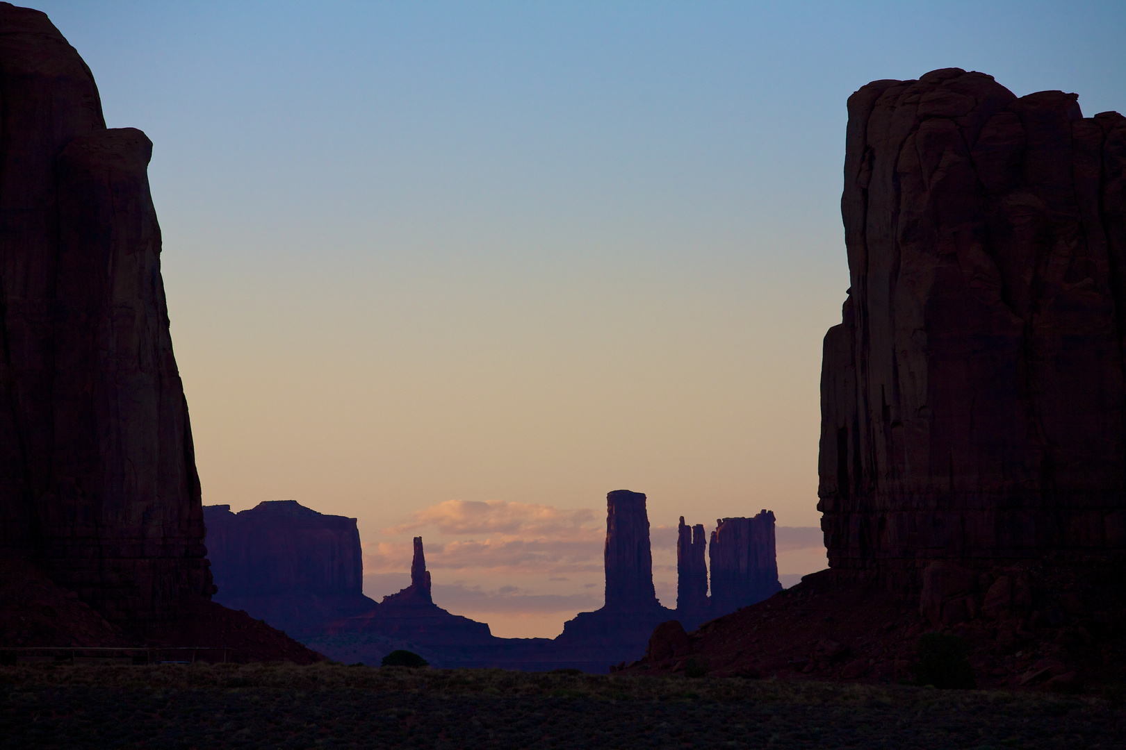 Monument Valley at sunset 1