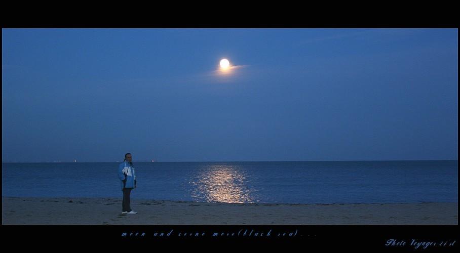 Moon and Black Sea ...(Bourgas - Bulgaria-November 5'th, 2006)