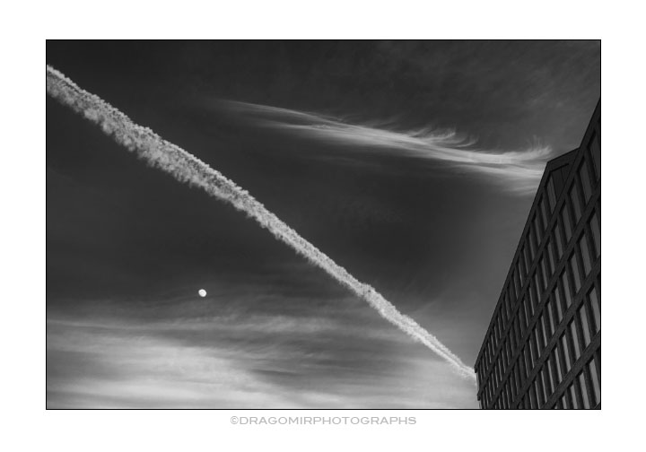 Moon and Trails