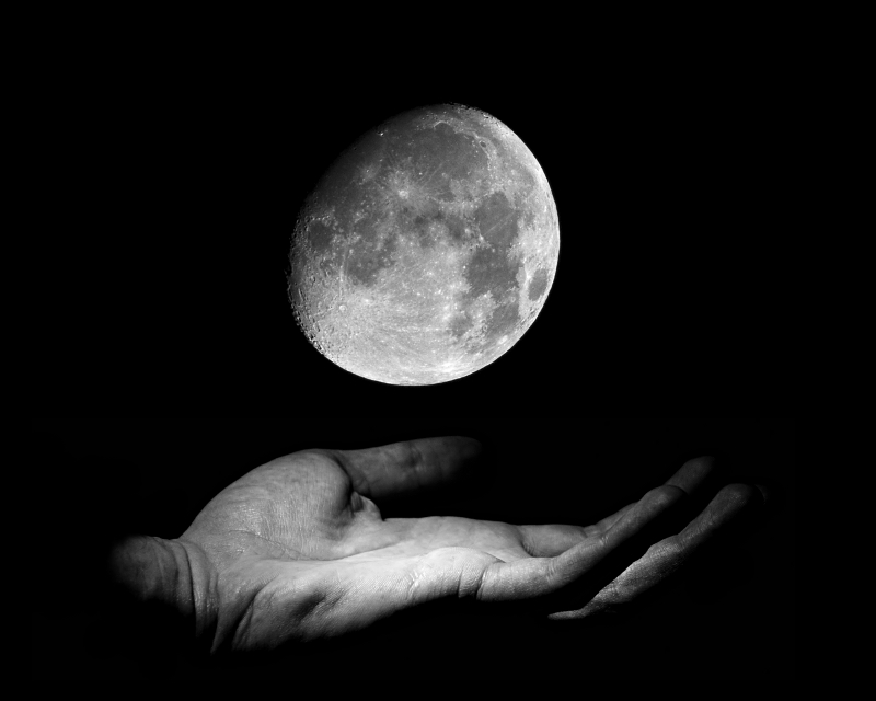 moon in my hand