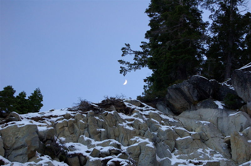 Moon over Tahoe