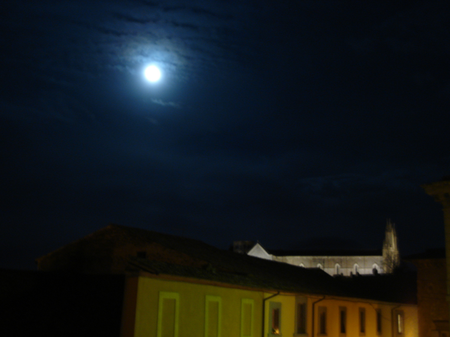 moonlinght on the Cathedral