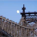 Moonrise over Queensboro Bridge
