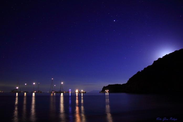 Moonset on Panarea